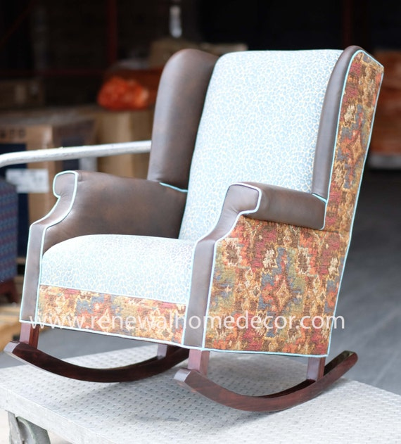 - Upholstered Wingback Nursery Rocking Chair