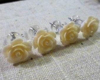Ivory Flower Push Pins