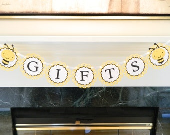 Bee Gifts Banner Bee Baby Shower Bee Baby Shower Banner Bee Decorations Bee Birthday Party Gifts Banner BEE