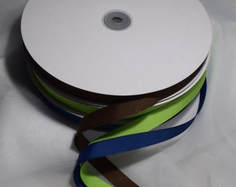 Ribbons Grosgrain 5/8 inches wide by the yard,navy blue, kelly green or brown