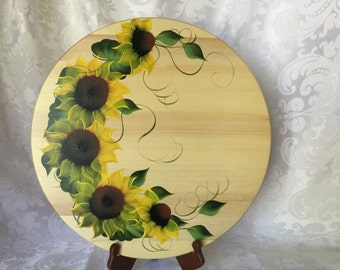 Sunflower Hand Painted Lazy Susan