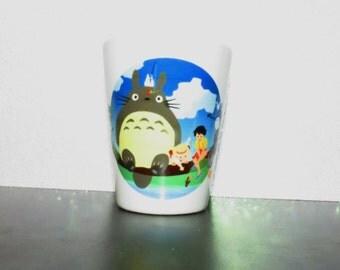 My Neighbor Totoro Inspired  Shot Glass 1.5 Ounce