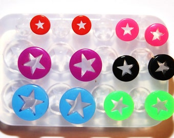 Multi Ear gauges and ear tunnels clear silicone mold for Make at home resin plugs SIZE: 10mm 12mm 14mm 16mm 18mm 20mm.(1-14)