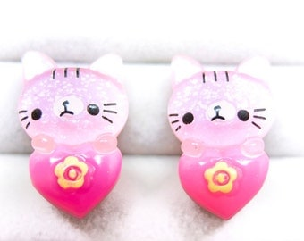 Cute kitties clip-on earrings