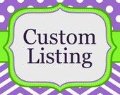 Reserved Custom Listing for Shake312
