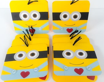 Minion Valentines, Childrens Minion Valentines, Classroom Valentines, School Valentines, Minion Valentine Exchange Cards, Mini Minion Cards