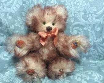 """AUTUMN - Mini 6"""" Mohair & Alpaca Teddy Bear"""