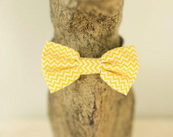 Yellow cotton bowtie chevron, stars or cactus