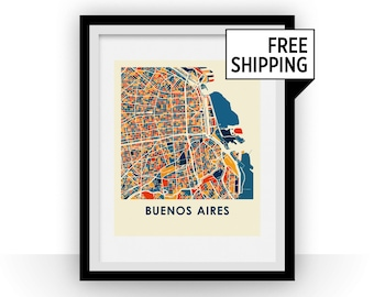 Buenos Aires Map Print - Full Color Map Poster