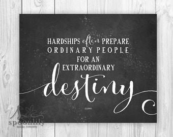 C.S. Lewis Quote, Extraordinary Destiny Quote Art Print, Chalkboard Wall Decor, Home Decor, Wall Decor Art Print