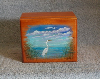 Jewelry Box - Keepsake Box - Curio Box - Hand Made and Painted