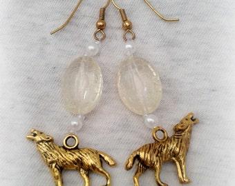 GoT Dire Wolf Earrings