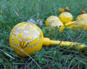 Yellow Maraca (Pair)