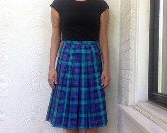 VIntage Pendleton Plaid Pleated Skirt