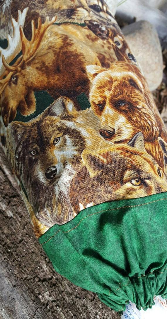 Wildlife Plastic Bag Holder, Wolf Trash Bag Dispenser, Bear Shopping Bag Keeper