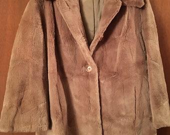 Vintage Sheared Beaver Coat Size M