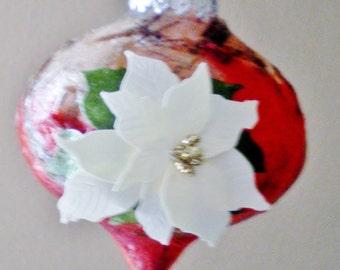 Nature Inspired Ornament, Holiday Decor, Christmas Tree Decoration, Glass Ornament, Unique Gift Idea, Secret Santa Gift, Hand Made Gift