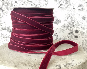 100 Yards Garnet, Espresso or Forest Velvet Ribbon, Festive Holiday Decor, Christmas Crafts, Gorgeous Wrap, Timeless Trim, Deck the Halls