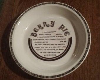 Berry Pie Recipe Pan/Plate
