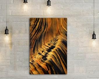 Wavy Sand Wood Canvas Art, wall art canvas, canvas print, wood art, wood photography, wood wall art