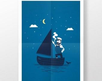 Poster · Sailorman No. 1 · 50 x 70