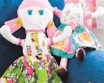 Roxy and Lola Ragdolls Sewing Pattern by Pink Fig Patterns, New Uncut Sewing Pattern