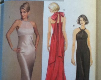 "Butterick Evening Gown Pattern 5930   Size 6-12, Bust 30""-34"", Waist 23""-26"", Hip 32""-36"""