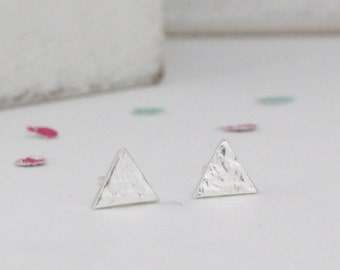 Sterling Silver Mini Triangle Studs