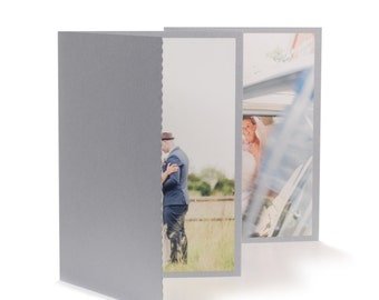 Wedding CD/DVD case Silver with photo folio