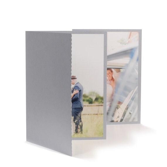 Wedding CD/DVD case Silver with photo folio