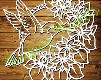 The Hummingbird - CYO papercutting template