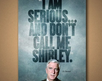 "AIRPLANE! ""Don't Call Me Shirley"" Quote Poster"