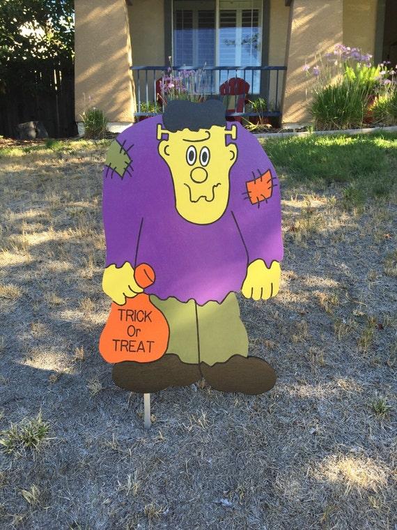 Halloween Frankenstein Wood Decorative Yard Art Sign