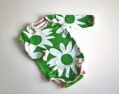 Handmade Baby Bodysuit / Onesie, 3M, Long Sleeve, Marimekko fabric