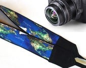 Map Camera Strap. Camera Neck Strap. Etsy Gifts. Blue Camera Strap. Accessories