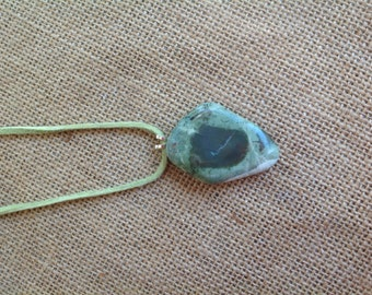 Necklace with Gem Hill jaspagate stone