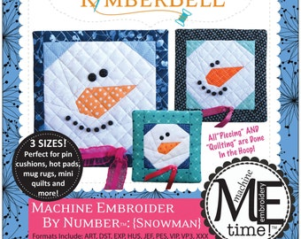 CD - Snowman by the Number Machine Embroidery Designs by KimberBell (KID620)