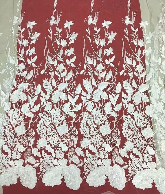 Exquisite french bridal lace fabric floral vintage style for French lace fabric for wedding dresses