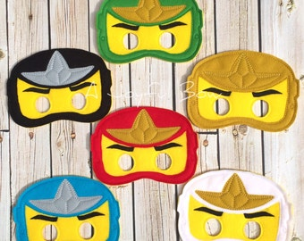 Ninjago lego inspired dress up and party favor masks, ninjago, ninjago birthday, ninjago party, ninjago gifts, ninjago birthday party favors