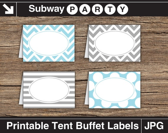 ... Labels. Chevron, Polka Dots, Stripes. Printable Table Tents / Editable