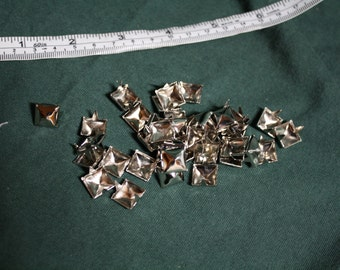 Pyramid studs for leatherwork lot of 40 pieces