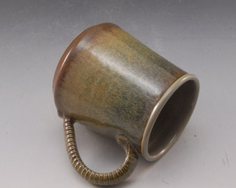 Handmade Pottery Mug Brown by Mark Hudak