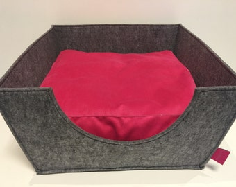 Dog bed Lily pink