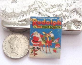 dollhouse comic  christmas  rudolf  12th scale miniature