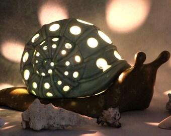 Ceramic Snail Votive
