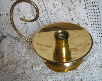 Baldwin brass hurricane candle holder with spiral handle