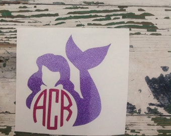 Personalized mermaid decal