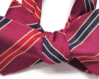 Silk Bow Tie for Men - Morris - One of-a-Kind, Handtailored, Sel-tie - Free Shipping