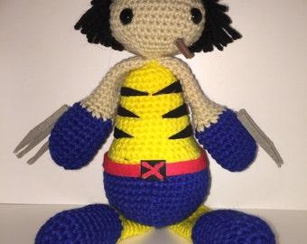 Crocheted Wolverine (Logan version)