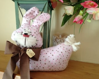 "Primitive Easter Polka Dot Bunny ""Dottie"" Shelf Sitter"